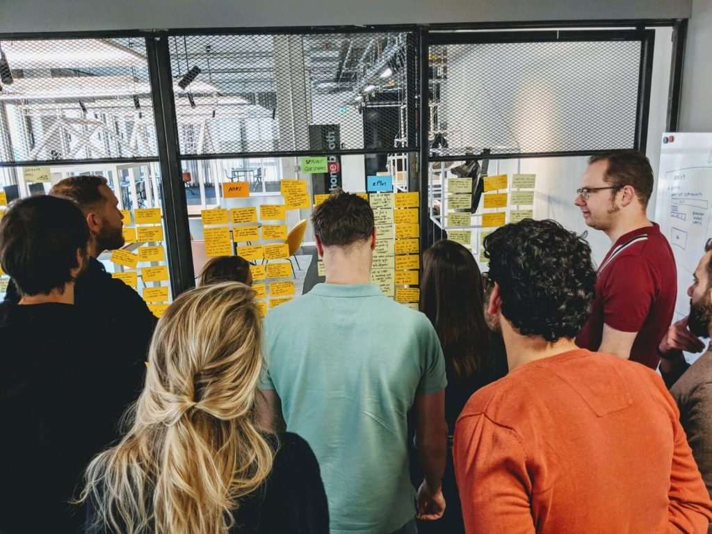 trajectory ideation of the workshop with the zalando plus team