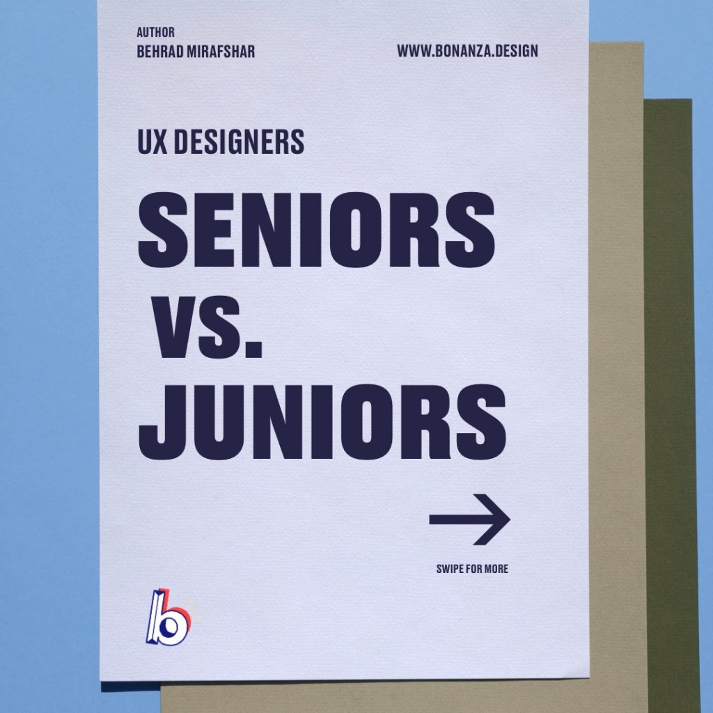 Senior UX Designer VS Junior UX Designer
