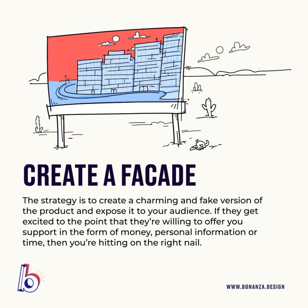 test-ideas-with-market create a facade