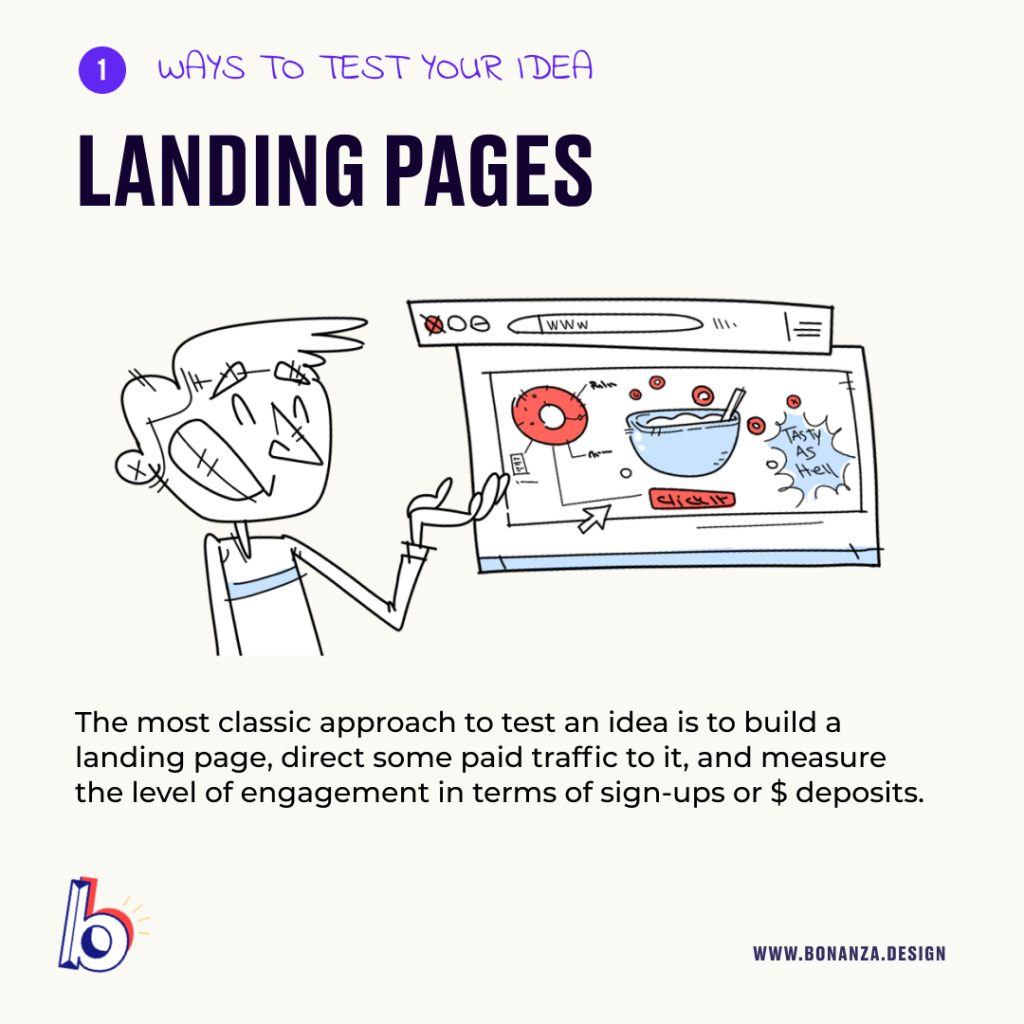test-ideas-with-market landing pages