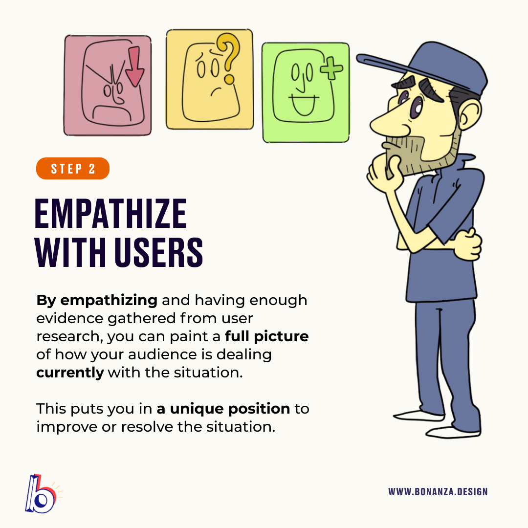 Empathize with user