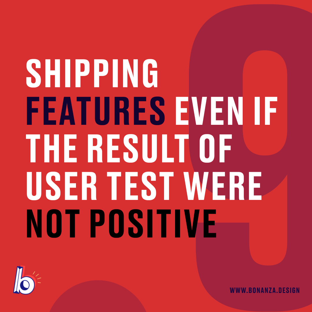 ux design mistakes shipping features