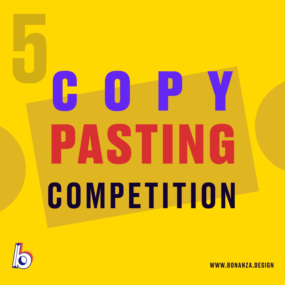 copy pasting