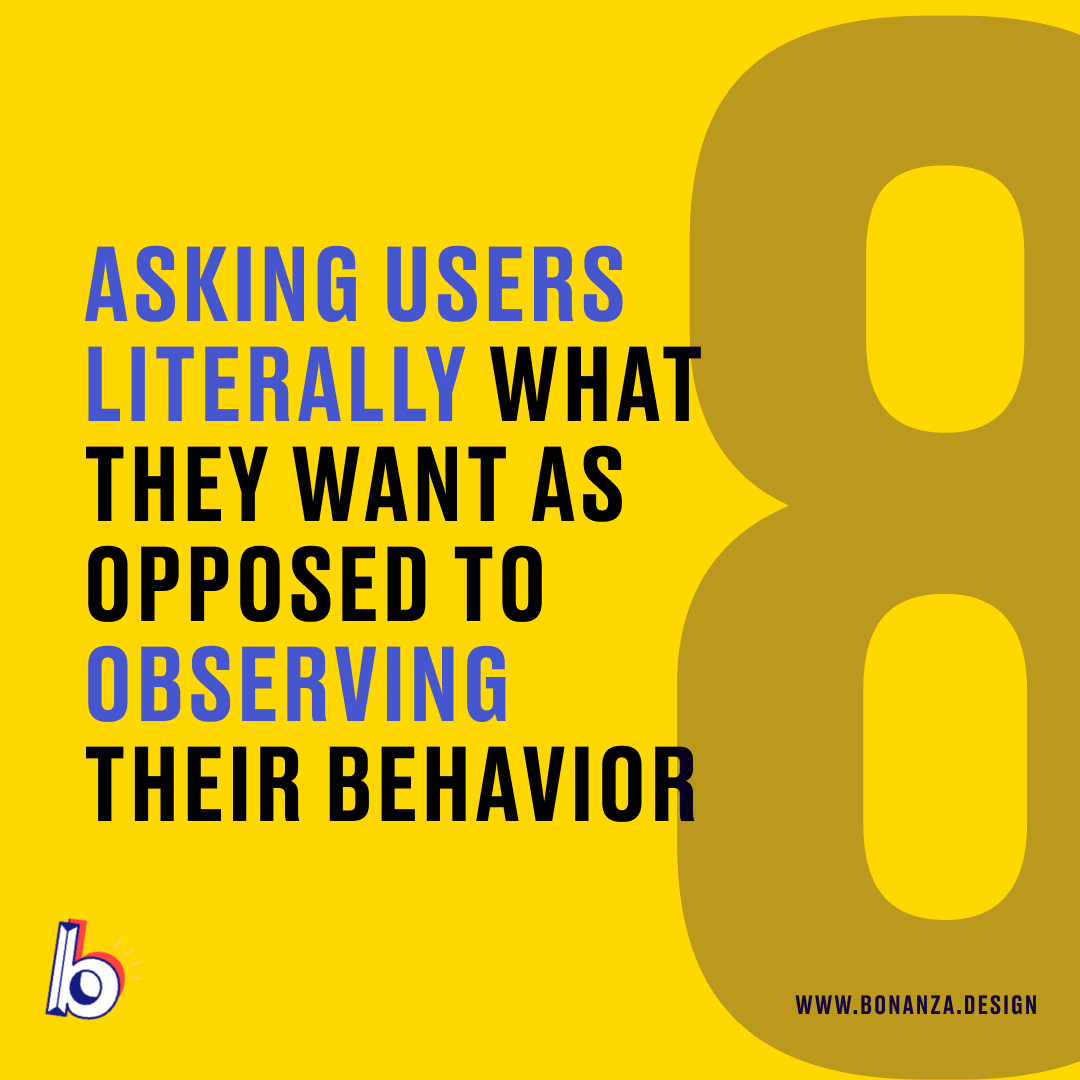ux design mistakes asking users